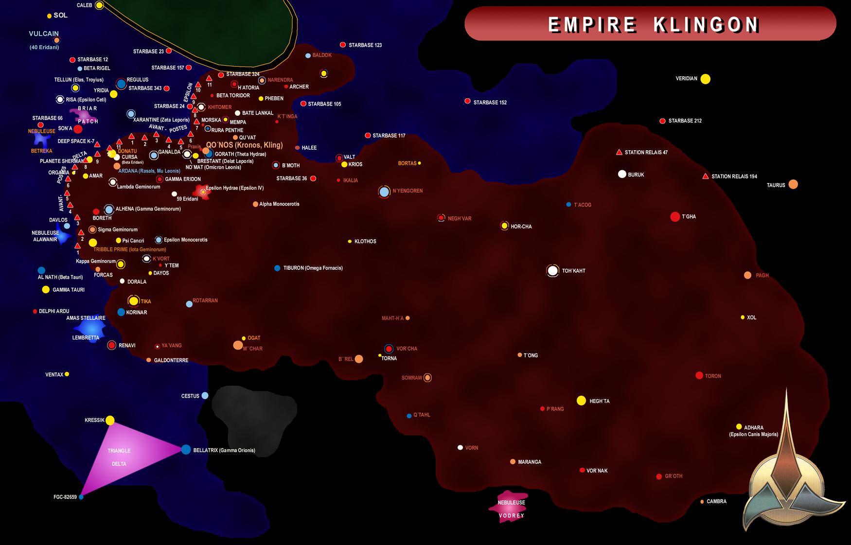 Cartographie Empire Klingon Base De Donn 233 Es Centrale